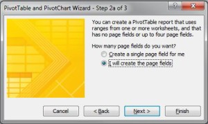 Unpivot Excel data - Pivot WIzard Step 2a